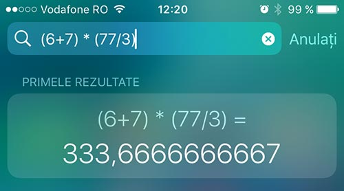 matematica de baza - cautare de pe iphone