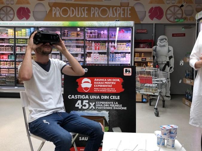 experienta realitate virtuala danone mega image