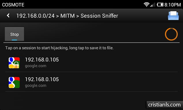 Session Sniffer - dSploit