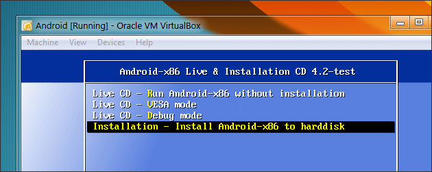 Install Android-x86 to harddisk
