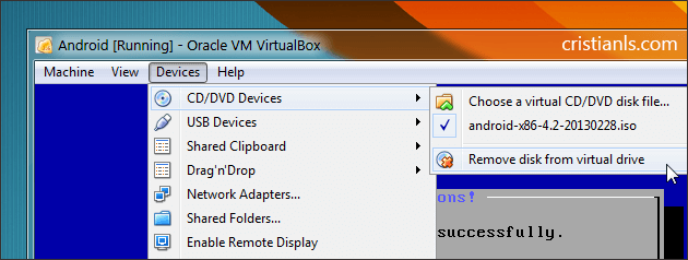 Remove disk from virtual drive
