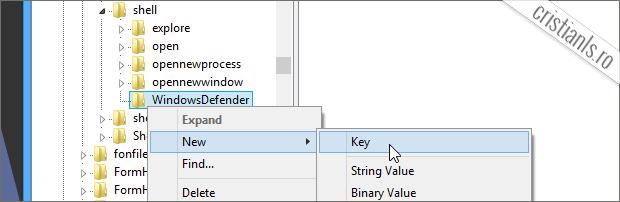 WindowsDefender New Key