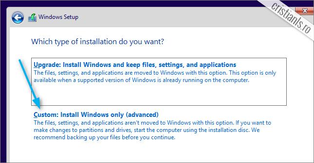 custom install windows