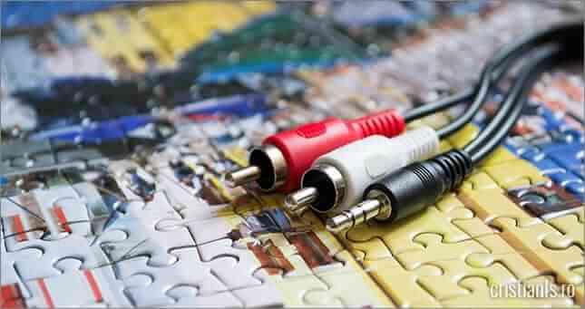 cablul adaptor rca jack