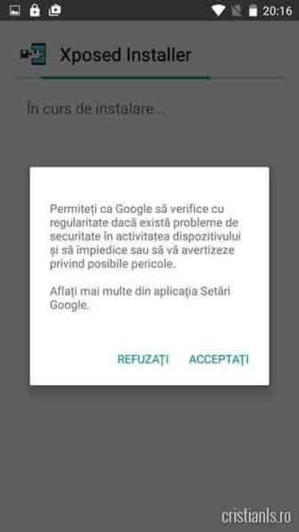 Instalare Xposed Installer - Acceptati