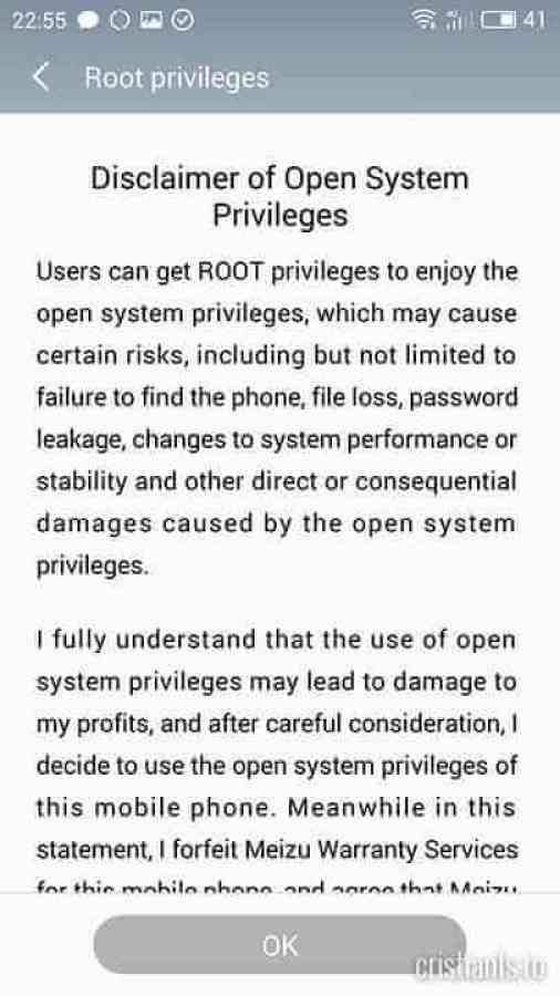 Root privileges - OK