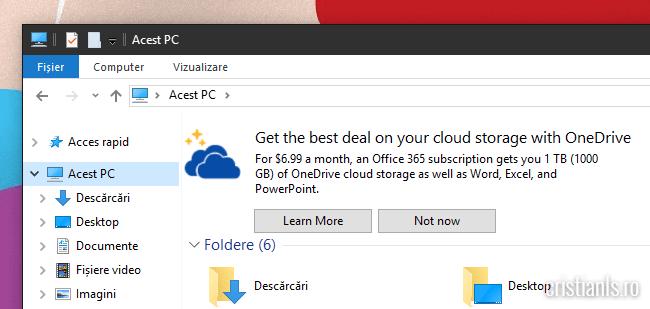 Publicitate în Windows Explorer