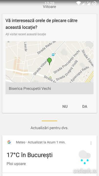 intereseaza locatia - google now