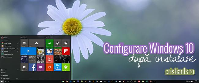 Configurare Windows 10