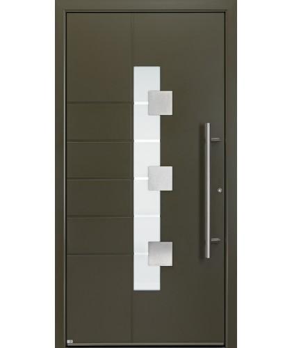 Usa metalica de exterior Groke 12440 Galben Măslină