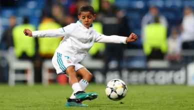 Cristiano Ronaldo Jr. Jumps With Joy As His Father Scores Against Inter