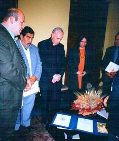 El jesuita satanista Jorge Bergoglio, en el Parlamento de las Religiones Unidas El Parlamento de las Religiones Unidas