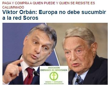 Soros y el chantaje político a la unión europea