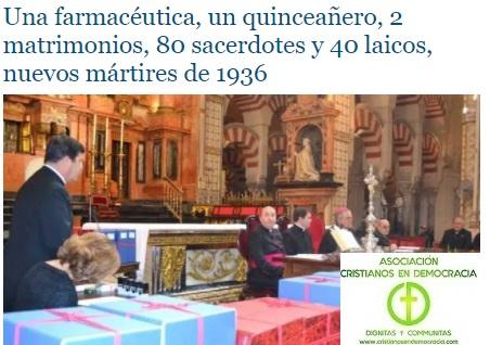 Nuevos mártires de la persecución comunista en España