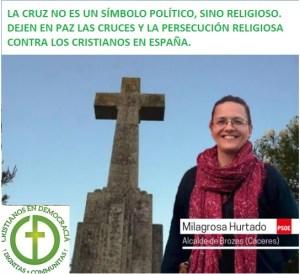 La Cruz no es un símbolo político. Basta ya de atacar la libertad religiosa.