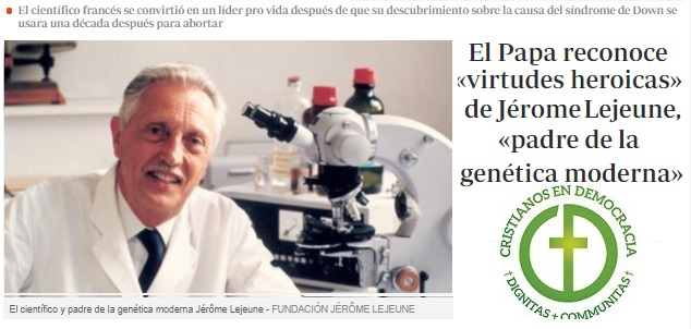 Jérome Lejeune: un ejemplo para la medicina moderna.