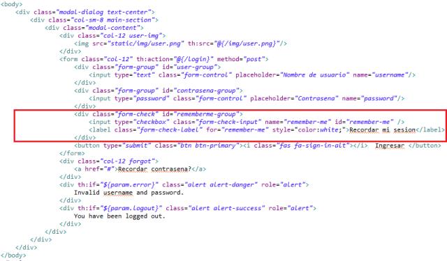 Remember Me html