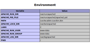 Enviroment Variables PHP