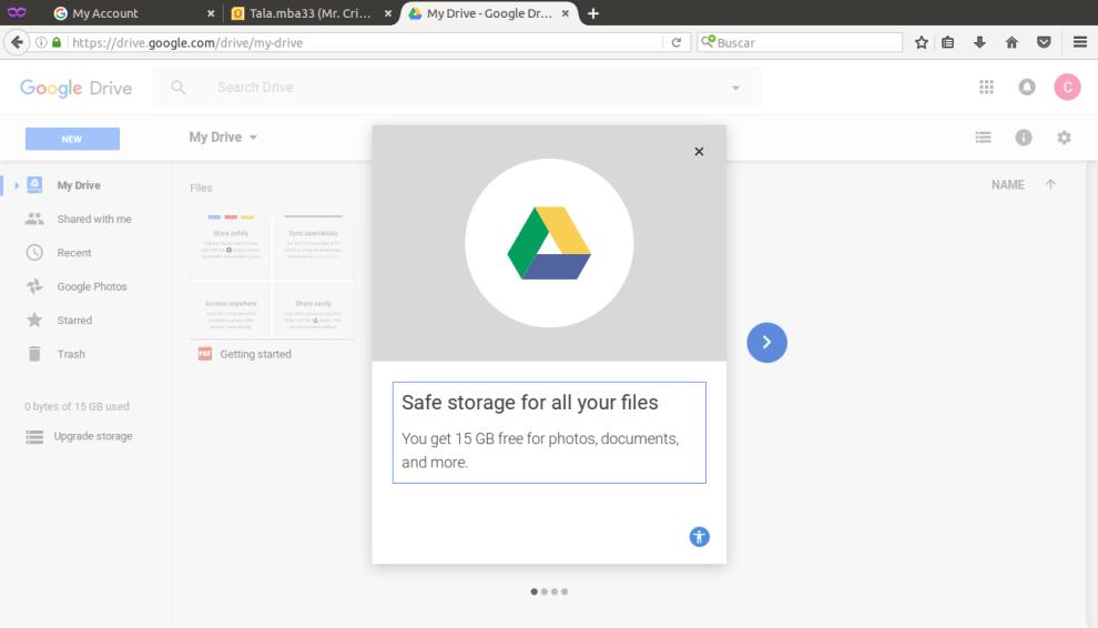 New Google Docs Account