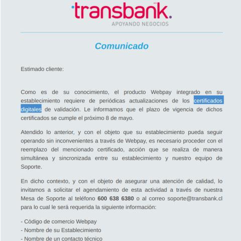 ¿Qué es un certificado digital, y por que hay que actualizar el de #Transbank?