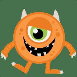 monster halloween clipart orange cute monsters svg silhouette clip cut inc kate miss scrapbook file cricut cookie misskatecuttables svgs 1st