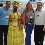 No stand da Bahia, com Vanio Abreu e Renato da Bahiatursa