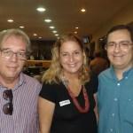 Antonio Roberto, esta colunista e Gustavo Porpino