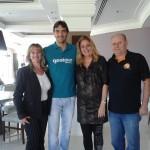 Lourdes Zeni, Cristina Lira e Neco da Meeting Eventos locações e equipamentos