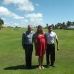 Com o famoso Rafael, descoberta do golf , e o gerente geral Emanuel Freitas