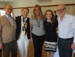 Sr. Regis Correa e sra, diretor do Grande Hotel de Canela, esta colunista, a diretora do Festuris, Marta Rossi e Sergio Prade