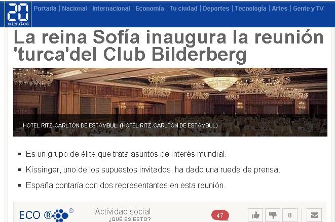 Reina Sofia inaugura reunion Club Bilderberg Turquia