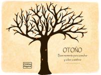 ilustracion, árbol, otoño, cristina mayoral, dibujo, cosechar
