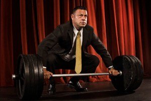 Weightlifting Businessman
