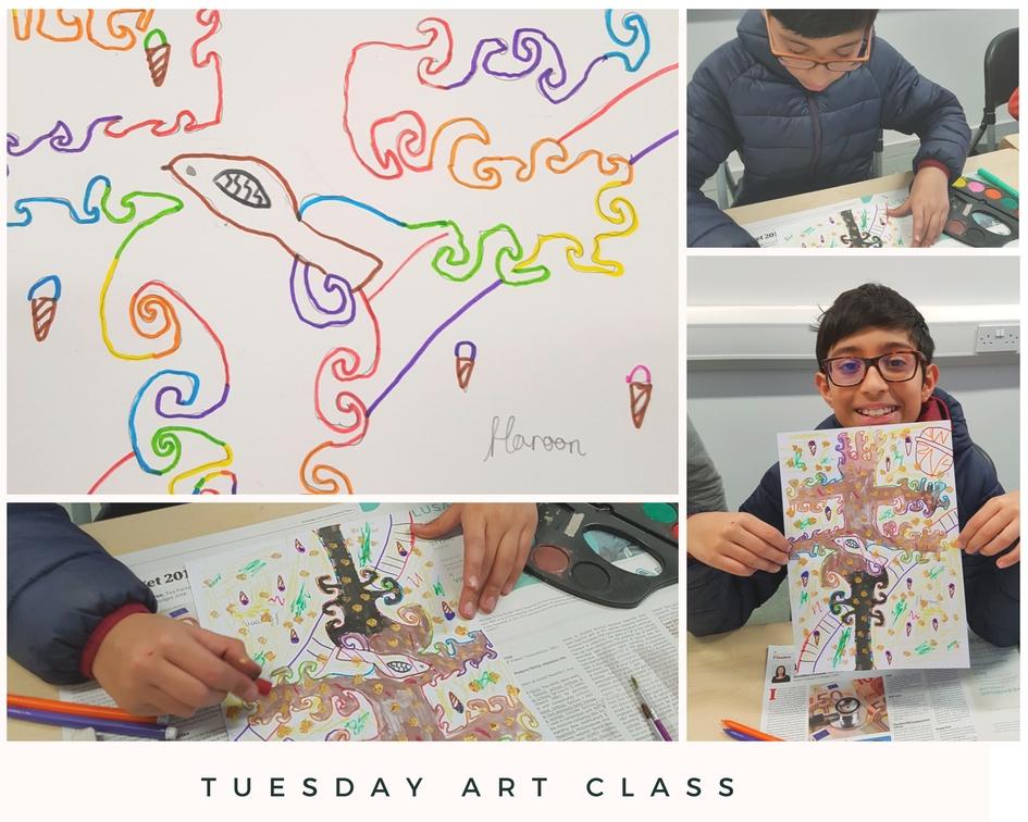 tuesday art class at Tyrrelstown Community Centre-tree of life