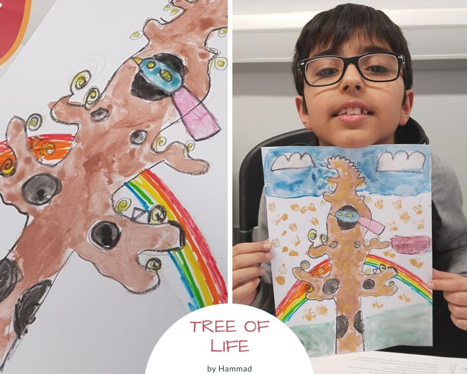 tuesday art class at Tyrrelstown Community Centre Hammad artwork