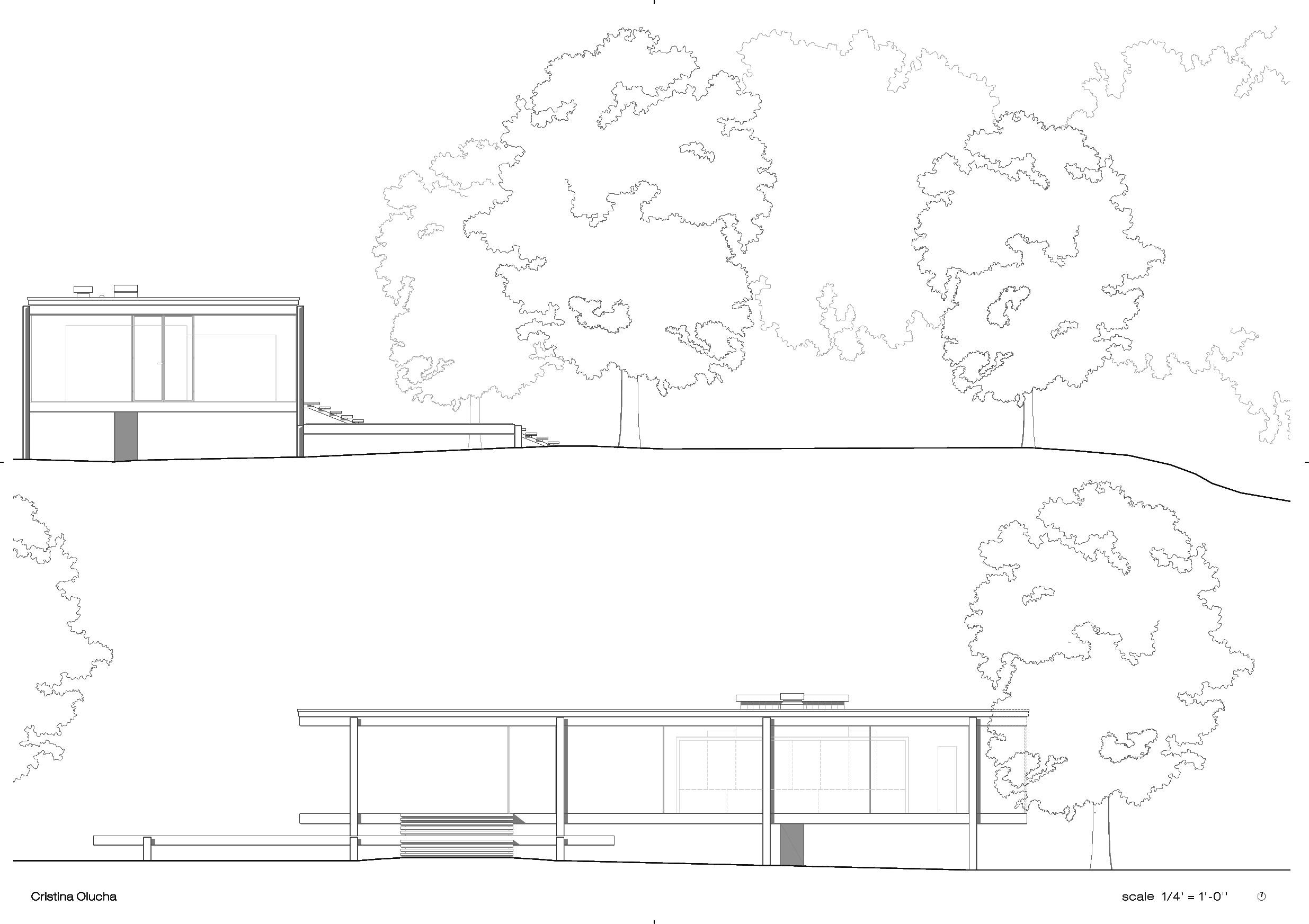 Farnsworth house by Mies Van der Rohe  cristina olucha
