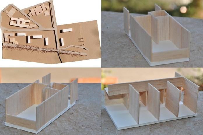3D model, maqueta, architecture, celula