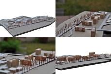 3D model, maqueta, Reus, social housing