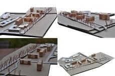 3D model, wood, social housing