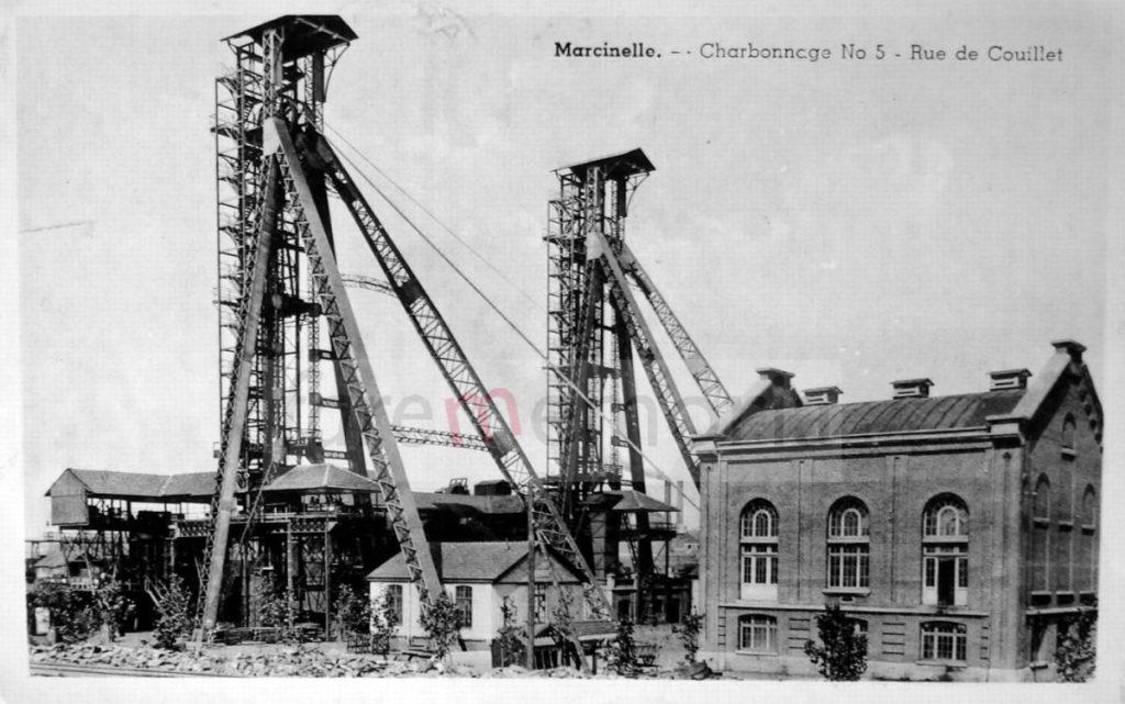 Marcinelle, cartolina (raccolta privata, Pesaro)
