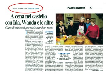 """""""Il Resto del Carlino"""" Pesaro, 22 febbraio 2008"""