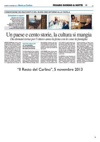 """""""Il Resto del Carlino"""", 5 novembre 2013"""