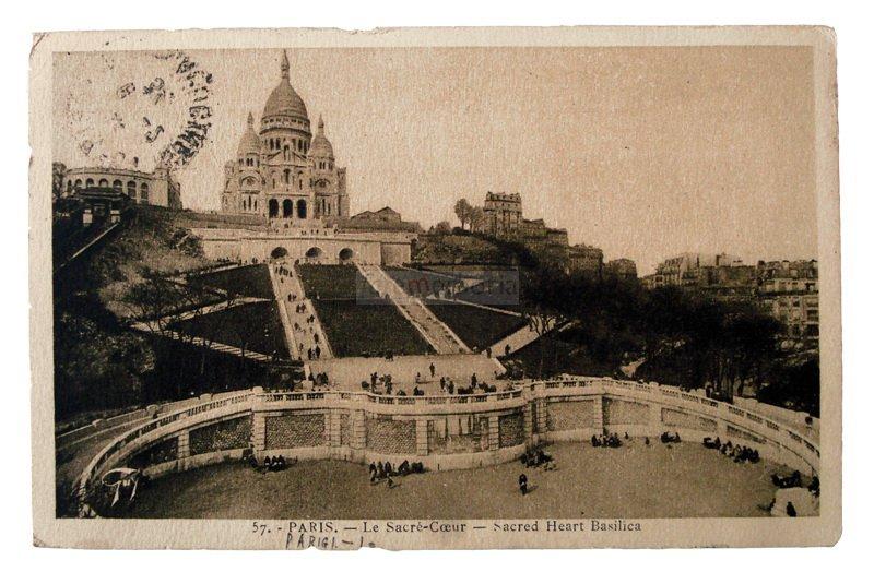 Parigi, 1931. Cartolina inviata da Prima Paganelli a Emilia Barbanti Badioli