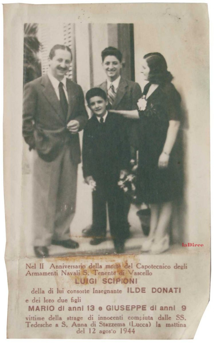 Ricordino funebre famiglia Scipioni