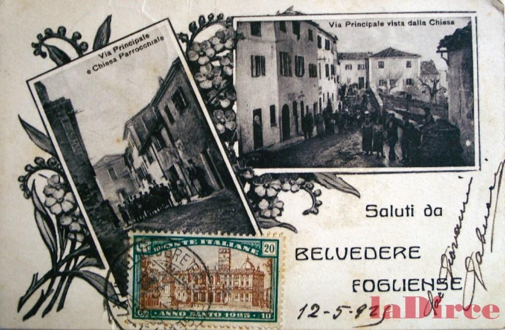 Belvedere Fogliense, cartolina (1922)