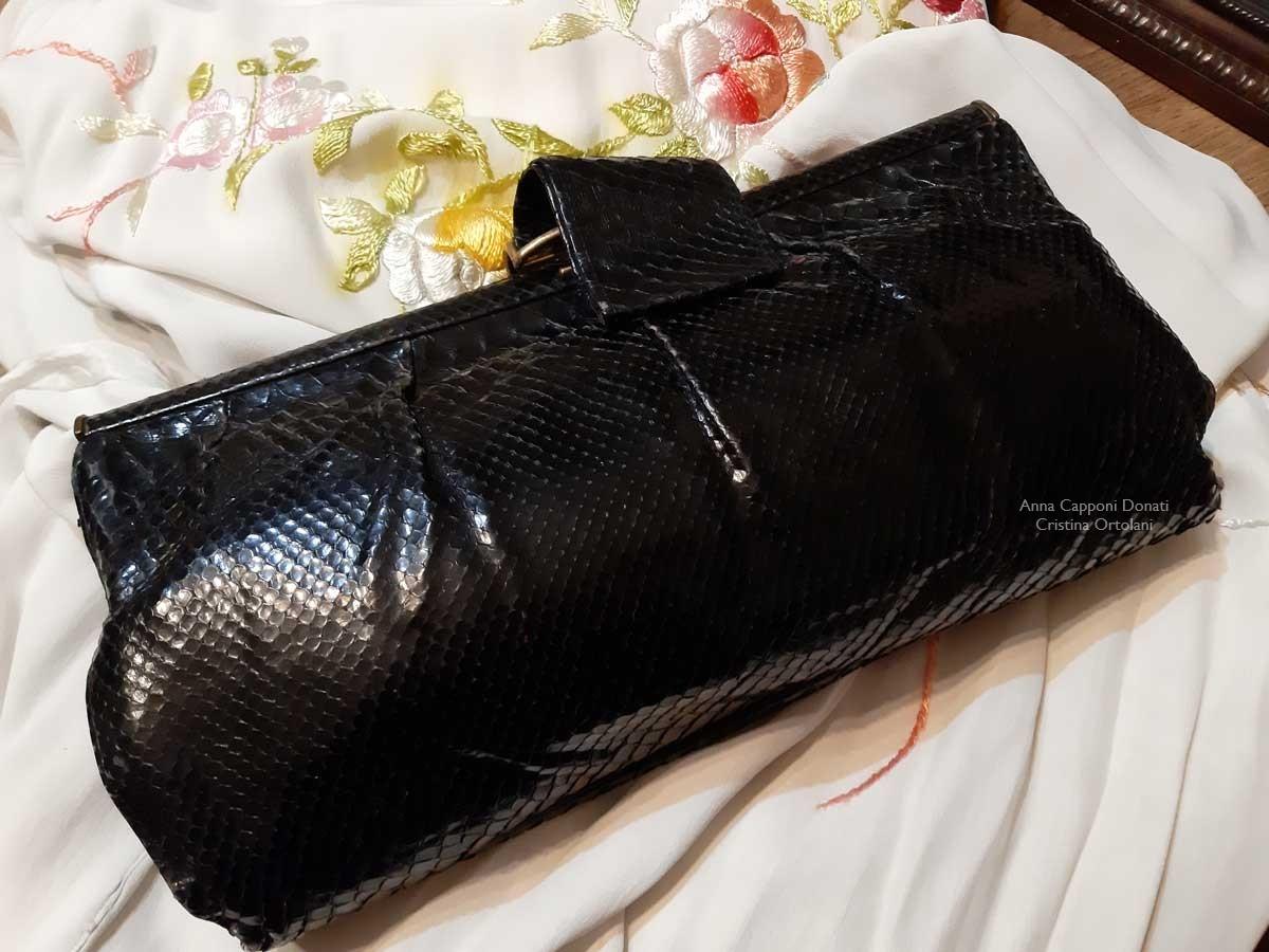 Ilde Donati, la borsa e il kimono