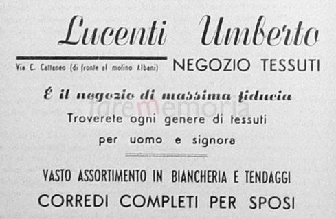 Umberto Lucenti - Inserzione pubblicitaria (1951)