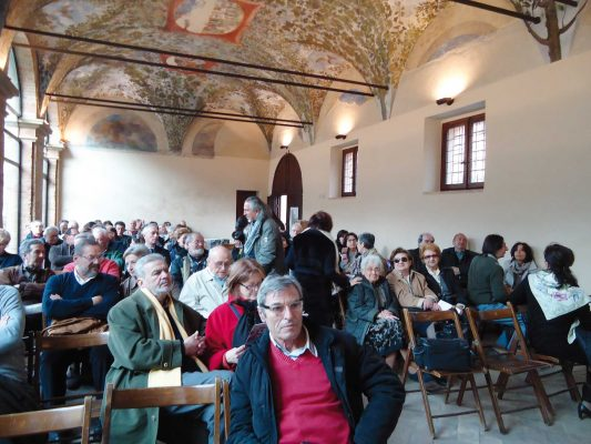 """Pesaro, Prefettura, Loggia del Genga, 17 marzo 2012. Presentazione del numero 3 di """"Promemoria"""""""