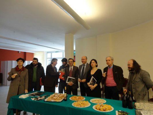 """Pesaro, Istituto alberghiero, 4 aprile 2013. Presentazione alla stampa del numero 4 di """"Promemoria"""""""
