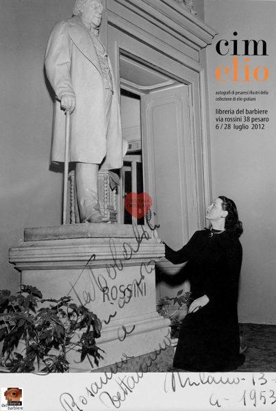 CimElio pesarese - Autografi dalla collezione Elio Giuliani